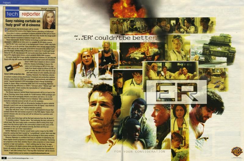 Poster ER Hollywood Reporter